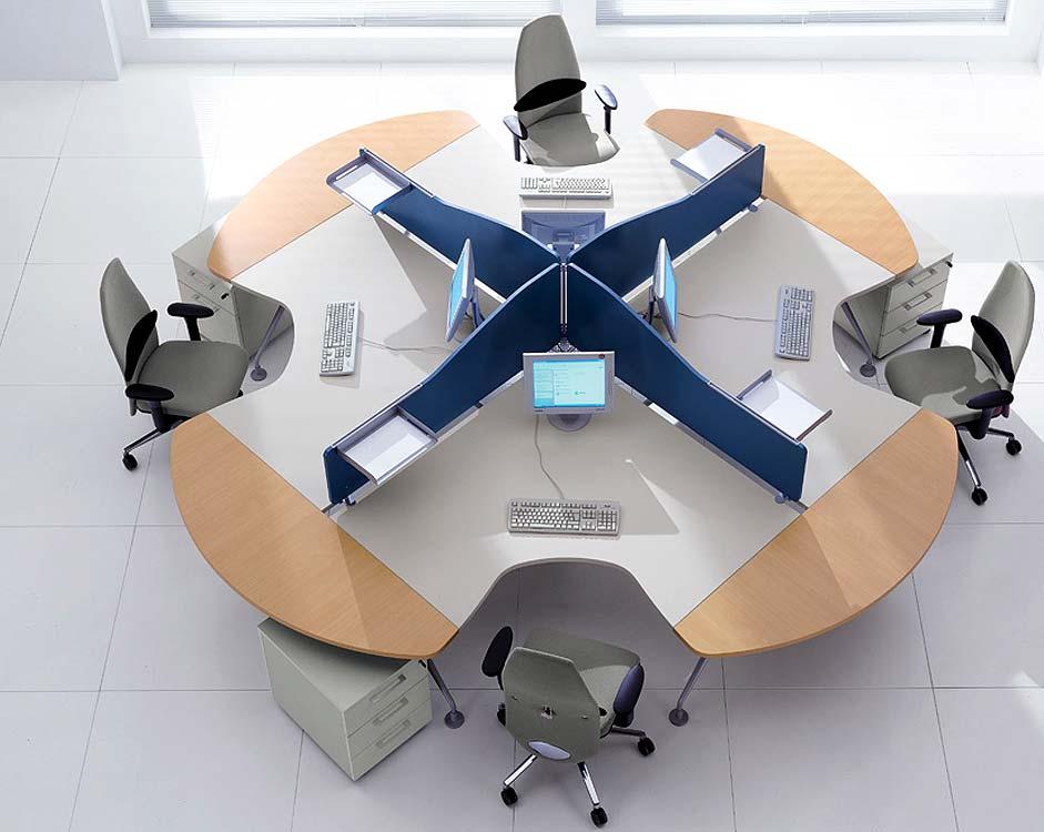 Islas y puestos de trabajo manimuebles manimuebles for Office design 2013