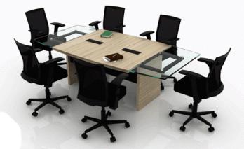 Mesa de juntas rectangular formica vidrio manimuebles for Mesa de vidrio rectangular