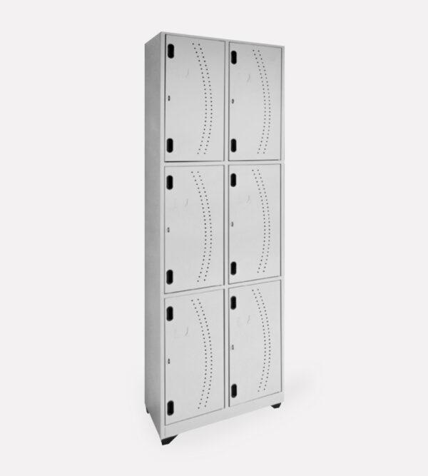 Locker Metálico Vertical 6 Puestos
